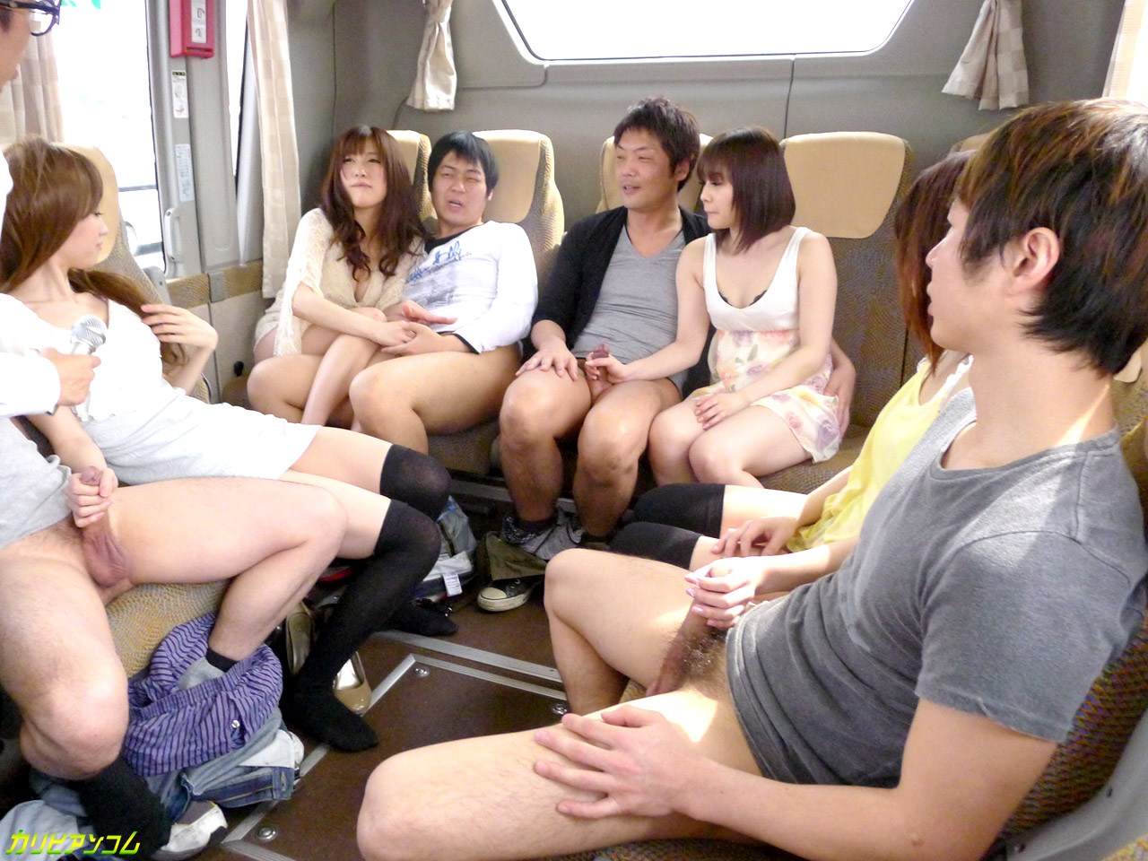 Teen asian girls on bus