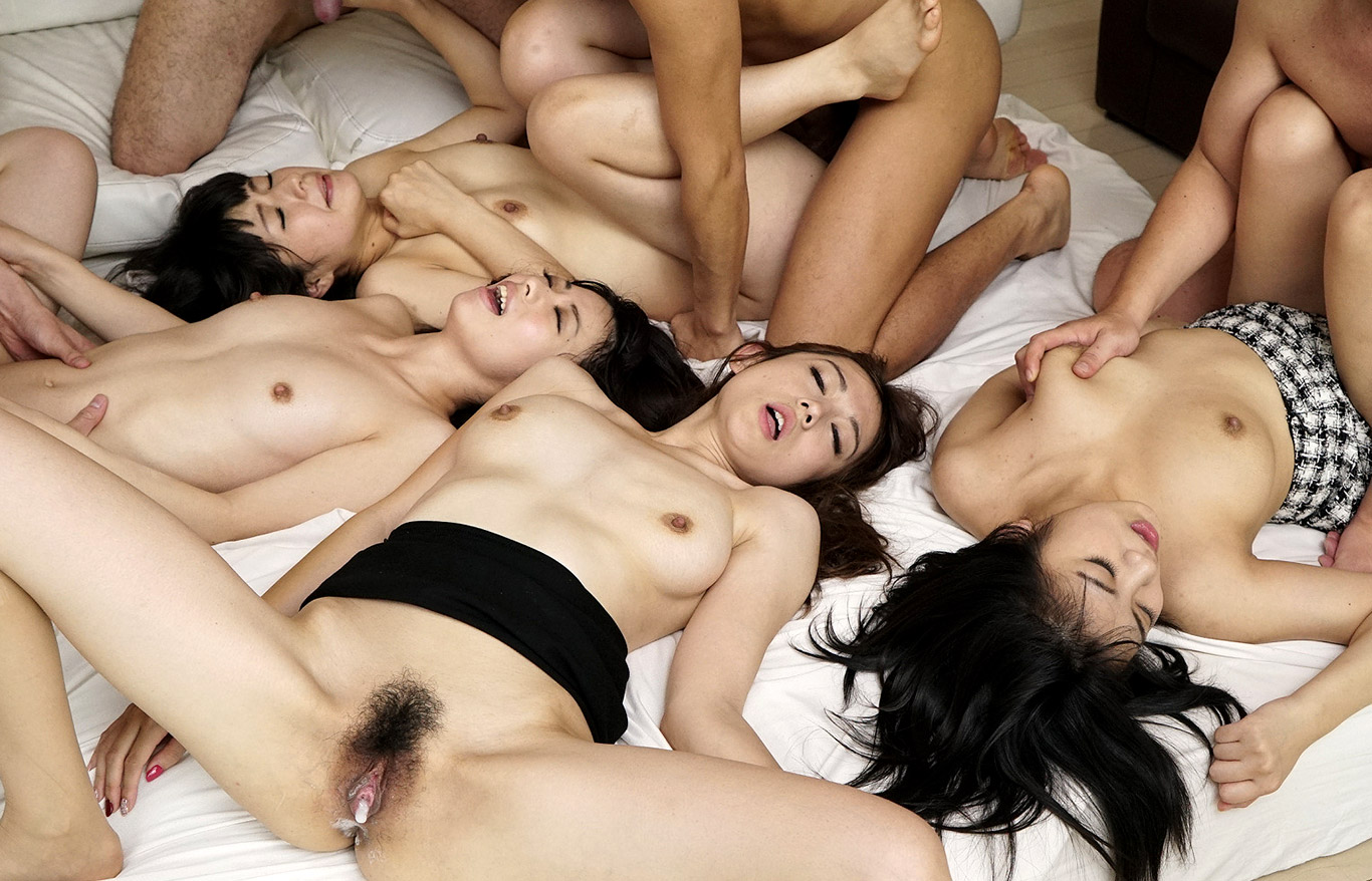 Large group asian sex — photo 5
